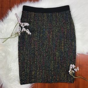 NEW Trina Turk Rainbow Multicolor Tweed Skirt